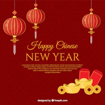 Red creative design for chinese new year