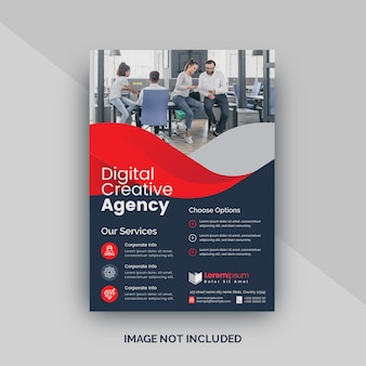 Red creative flyer template