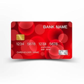 Красный дизайн кредитной карты