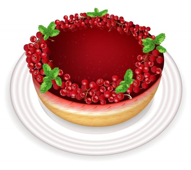 Red currant cake dessert
