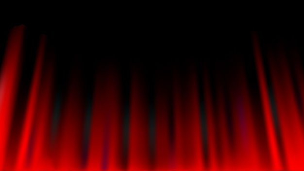 Red curtain abstract background, theatrical drapes