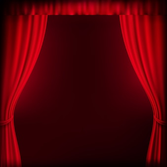 Red curtain background template.   file included
