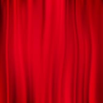 赤いカーテンの背景。