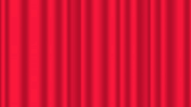 Red curtain illustration