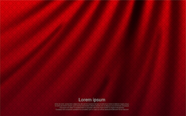 Red curtain realistic luxury background.