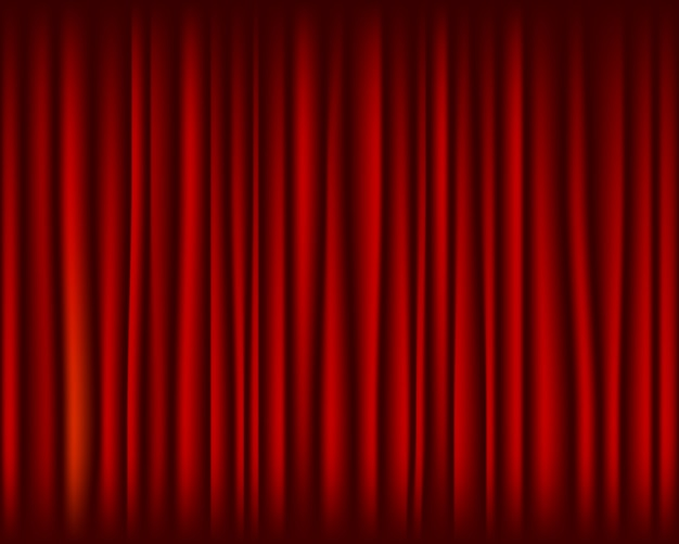 Red curtain for stage seamless texture