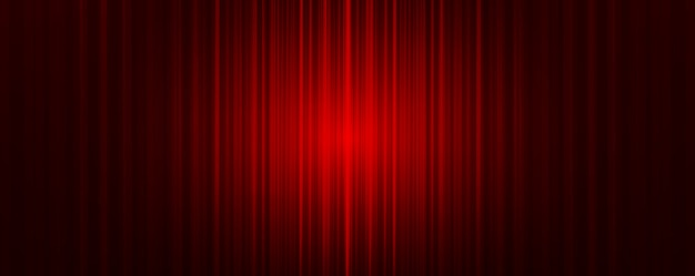 Red curtain with light stage background