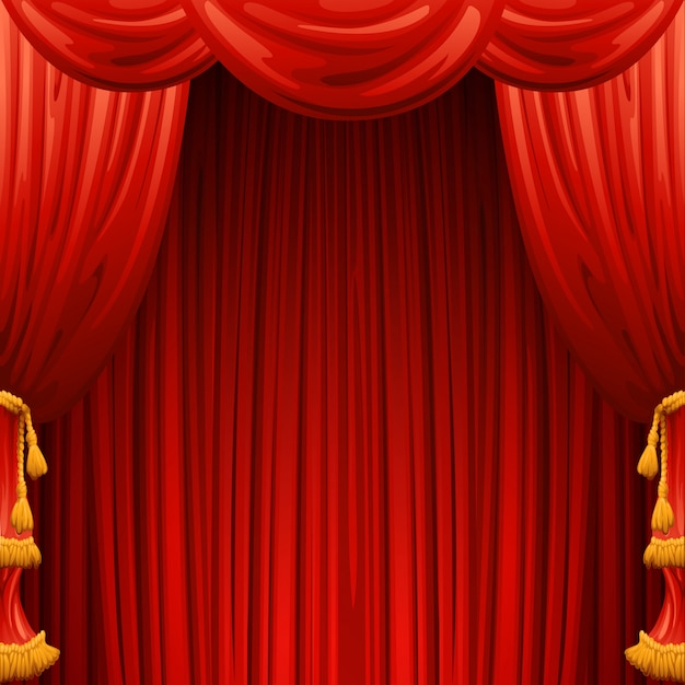 Red curtains. theater scene.  background