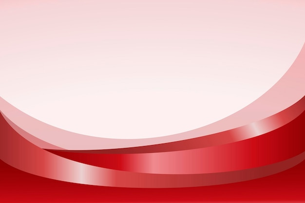 Red curve patterned background vector