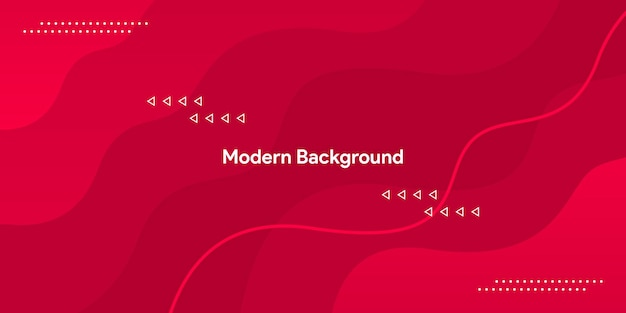 Красная кривая с красочным и элегантным фоном гладкой линии
