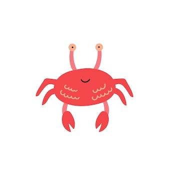 Red cute crab