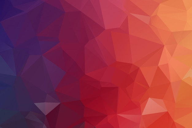 Red dark polygonal mosaic background.