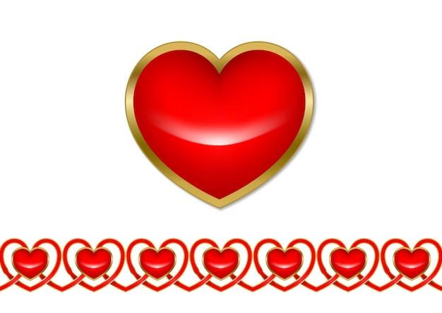 Красный декоративный образец валентинки на день святого валентина