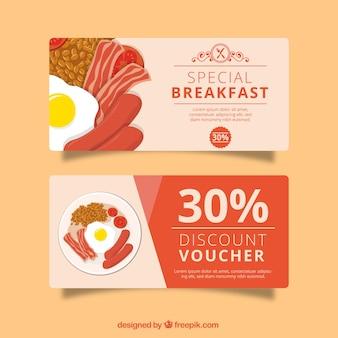 Red discount voucher for restaurant