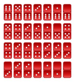 赤いドミノタイル