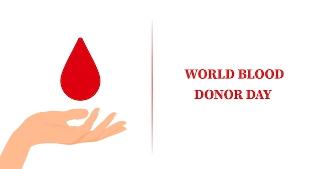 Red donor day world blood donor day banner template blood donation lifesaving and hospital