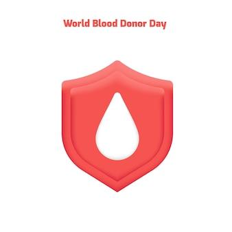 빨간 기증자의 날 세계 헌혈자의 날 배너 템플릿 케어 헬프 헌혈 인명 구조