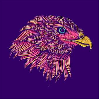 Red eagle head artwork