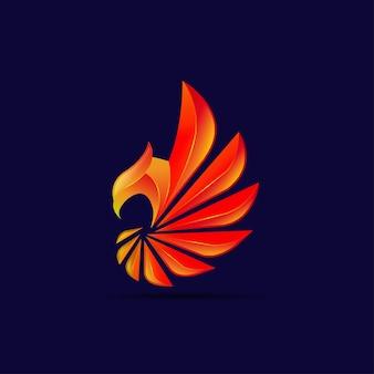 Красный орел логотип дизайн вектор шаблон
