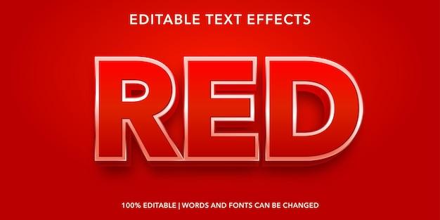 赤の編集可能なテキスト効果