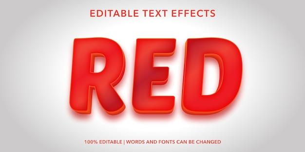 Красный редактируемый текстовый эффект