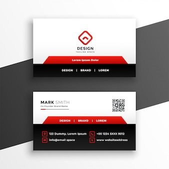 Red elegant corporate business card template