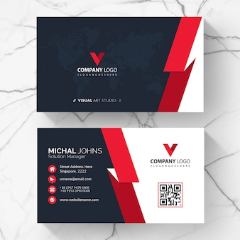Red elegant corporate card