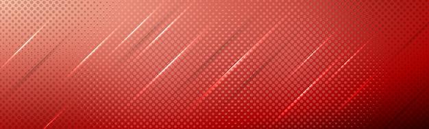 그라디언트, 그림자 조명 및 하프 톤 텍스처와 빨간 우아한 현대 배경 구성 프리미엄 벡터