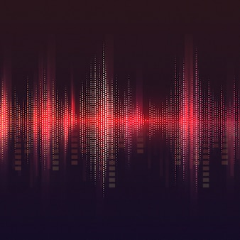 Red equalizer pattern background vector