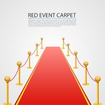 Красный ковер событий, изолированные на белом фоне.