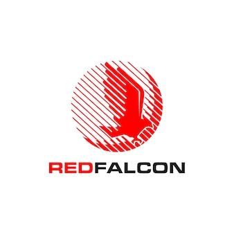 Red falcon logo company