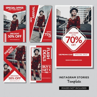 Red fashion social media post