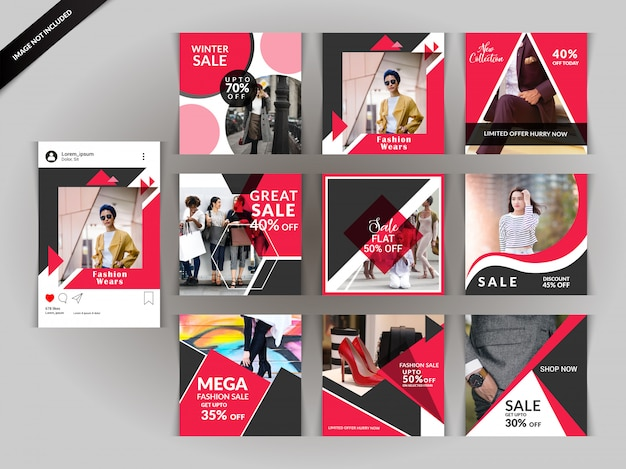 Red fashion social media post для цифрового маркетинга