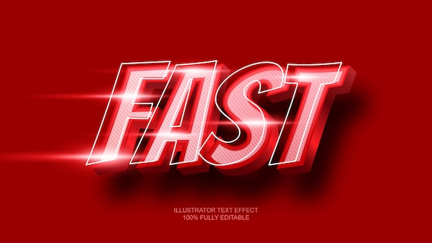 Red fast text effect