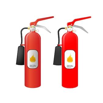 赤い消火器のイラスト