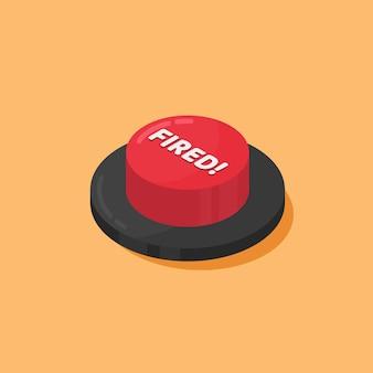 オレンジ色に分離された赤い発射ボタン