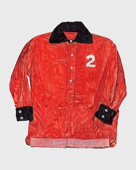 Elemento di design vettoriale della giacca da pompiere rosso, remix dell'opera d'arte di robert gilson