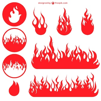 Red flame icons
