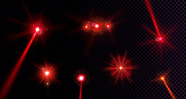 Red flare lights set