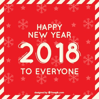 Red flat background happy new year to everyone