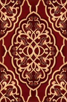 赤い花柄。テキスタイル、カーペット、壁紙のカラフルなテンプレート。