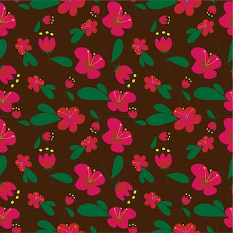 Красный цветок на коричневом фоне