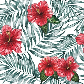 Red flowers design