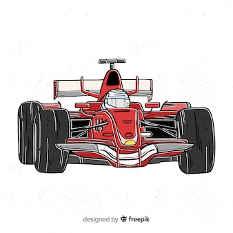 Red formula 1 car background