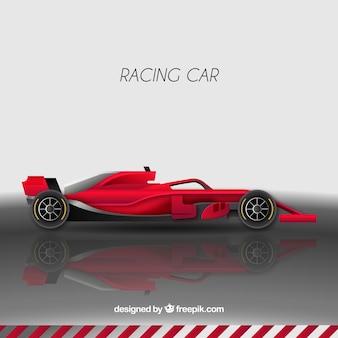 Red formula 1 racing car