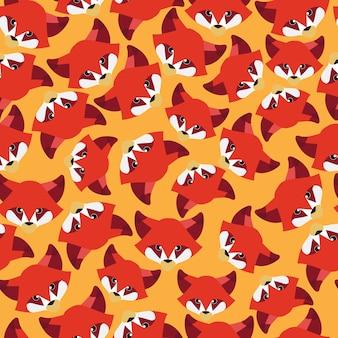 Red fox seamless pattern