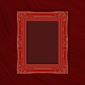 Red frame on a red wall
