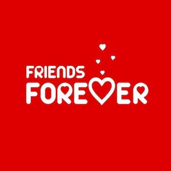 Red friendship day background