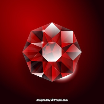 Red gemstone background