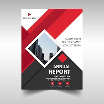 Красный креативный шаблон ежегодного отчета об обложке книги